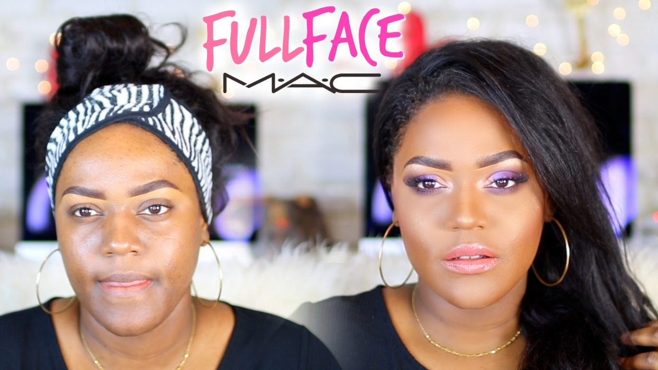 M.A.C MAKEUP TUTORIAL ON BLACK WOMEN | ONE BRAND TUTORIAL on Dark Brown Skin | WOC - YouTube