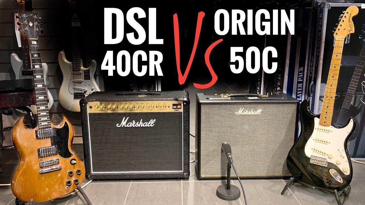 Origin 50C -vs- DSL 40CR - CRANKED MARSHALL Combo Comparison!