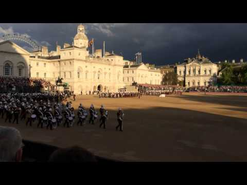 Beating Retreat at Horse Guards Parade on 4th June 2014
