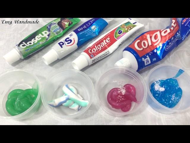 Thử Làm Slime Với Loại 4 Loại Kem Đánh Răng Với Muối (Ko Borax, Ko Hồ, Ko Keo Sữa, Ko DDRM)