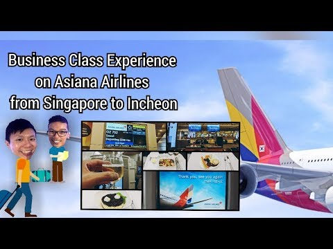 Asiana Airlines OZ752 A330 Business Class from Singapore to Incheon