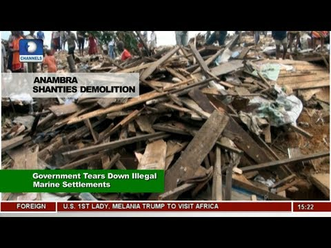 Anambra Government Tears Down Illegal Marine Settlements