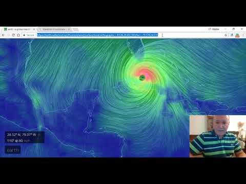 Hurricane IRMA Live Wind Data Via NullSchool.net