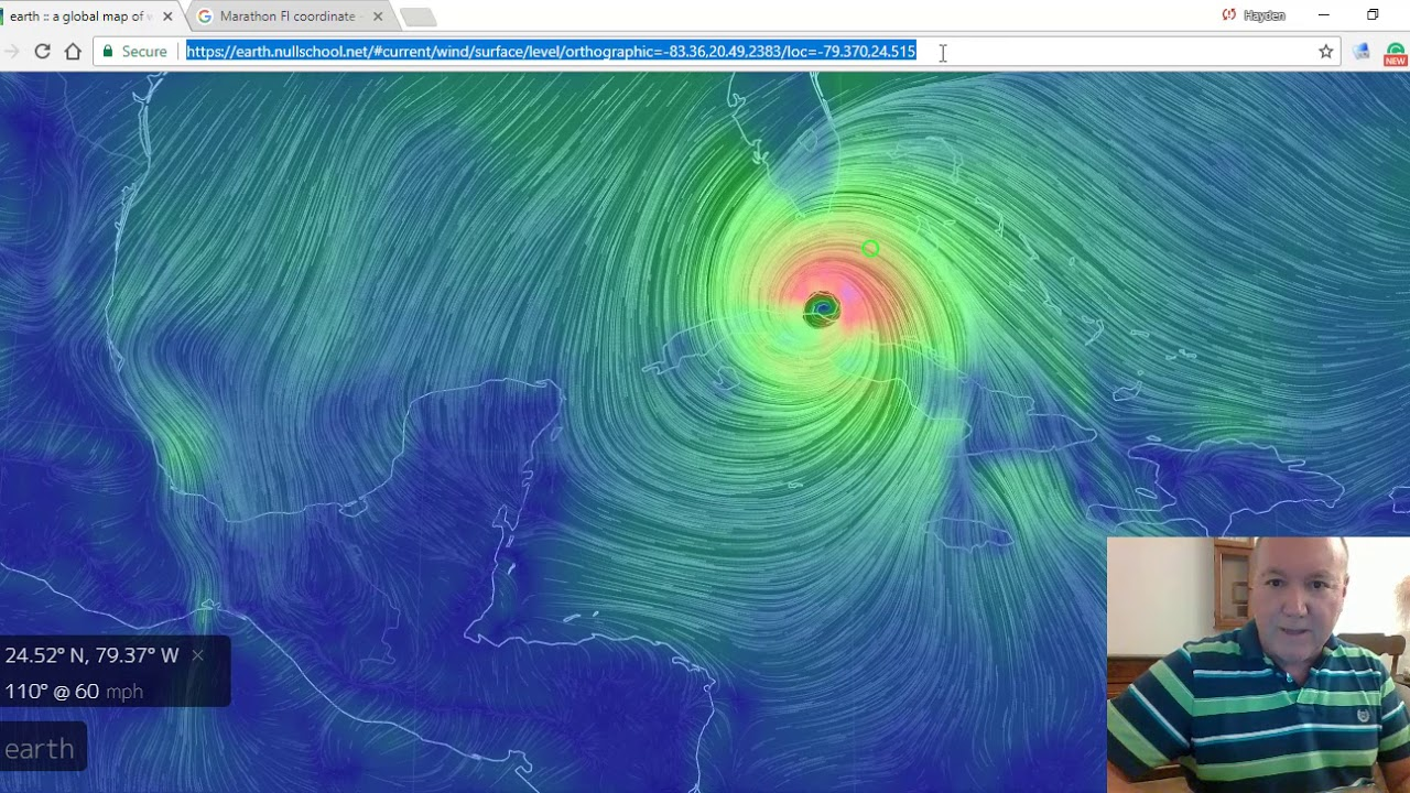Hurricane Irma Live Wind Data Via Nullschool Net Youtube