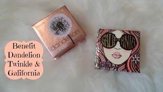 New Benefit Dandelion Twinkle Highlighter & Galifornia Blush W/ Swatches