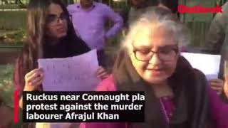 """HINDUTV IS TERRORISM"""" JNU students ne cannought place par Kiya pradarshan"""