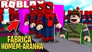 SPIDER MAN FACTORY IN ROBLOX!! (Super Hero Tycoon)