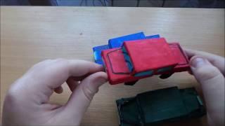 Машинка из спичечных коробков