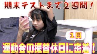 【1日密着】運動会の振替休日の過ごし方が真面目すぎた?!期末テストまでもう少し!!!