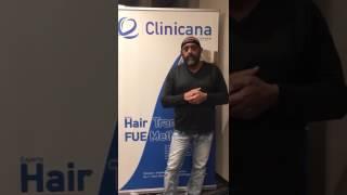 Hair transplant testimonial / Clinicana