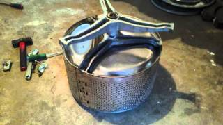 Barbacoa/Horno oculta en una lavadora