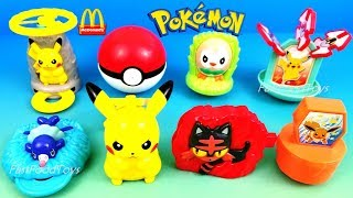 2018 McDONALD'S POKEMON HAPPY MEAL TOYS FULL SET 8 NINTENDO LET'S GO PIKACHU EEVEE JAPAN ASIA UNBOX
