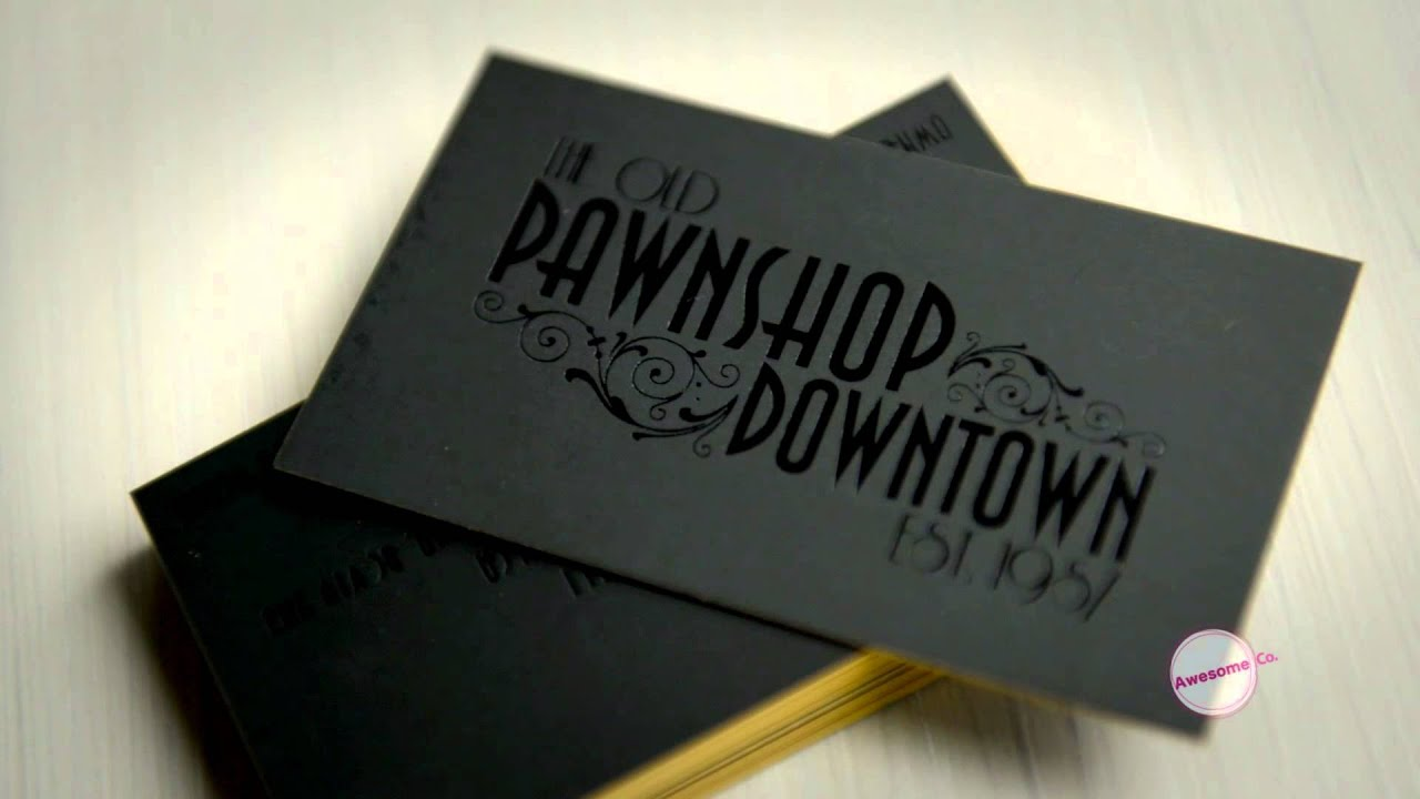 Awesome (Co.) Silk Business Cards - YouTube