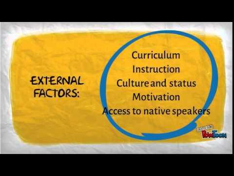 Factors affecting acquisition of a second language