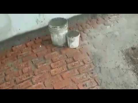 Terrace Waterproofing Treatment On Brick Bat Coba By Umesh Abhimanyu Gosavi