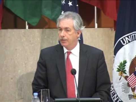 U.S. Deputy Secretary of State William Burns speaks at COA