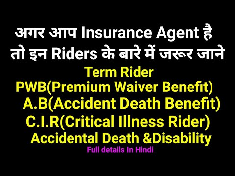 Insurance Riders And Benefits In Hindi Term Rider Accident
