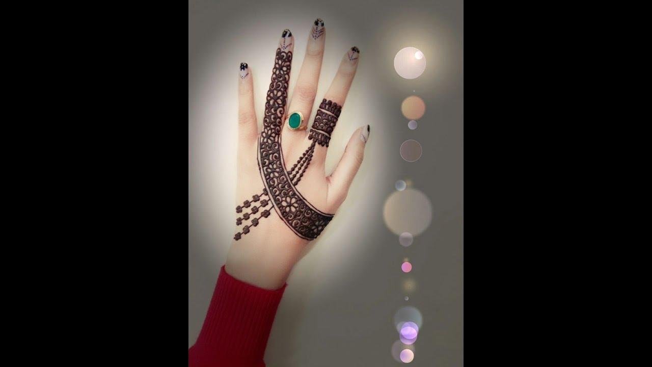 Bracelet Henna Design For Full Hand 2 20 Youtube