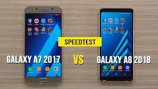 Speedtest - Samsung Galaxy A8 2018 vs Galaxy A7 2017