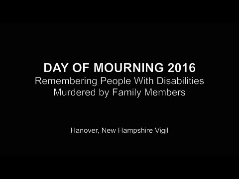 2016 Disability Day of Mourning Vigil in Hanover, New Hampshire