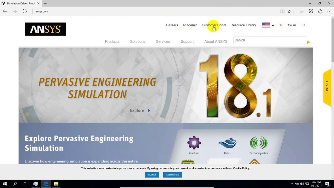 Downloading and Installing ANSYS Student Release 18 1