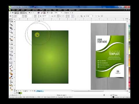 How To Make Awesome Flyer Template Using Coreldraw YouTube
