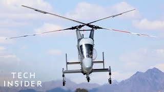 K-MAX Helicopter With Two Crossing Rotors Is Lighter And More Efficient