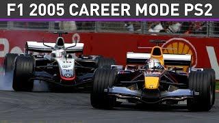 Formula One 2005 (PS2) - Career Mode Part 1 LIVE  (100% Playthrough)