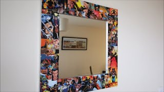 Simple D.i.y Comic Book Mirror Frame!