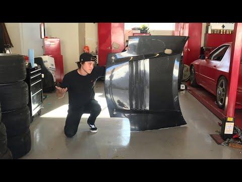 RX7 FD Carbon Fiber hood repair!