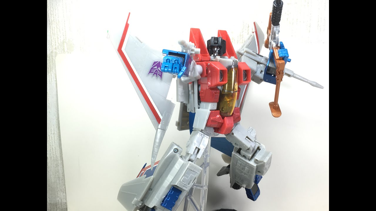 Transformers masterpiece starscream hasbro toys r us exclusive toy review youtube - Maisonnette toys r us ...