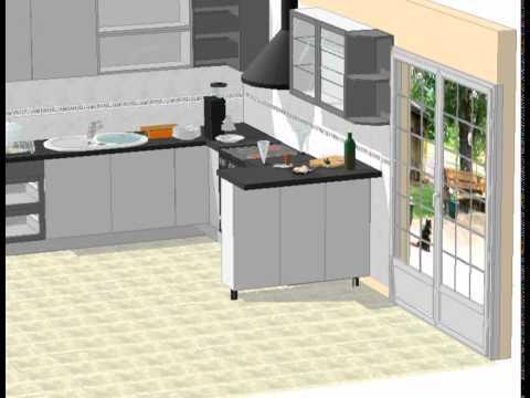 Mueble de cocina con desayunador youtube for Islas de cocina con desayunador