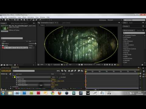 After Effects Tutorial - Creating a vignette and blurring the edges without MBL.