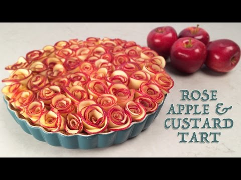 ROSE APPLE CUSTARD TART RECIPE by Ann Reardon How To Cook That ROSE DESSERT