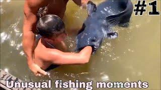 Необычные моменты на рыбалке юмор приколы 1 Unusual fishing moments