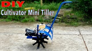 How to make a Cultivator Mini Tiller with 49cc 2-Stroke Engine