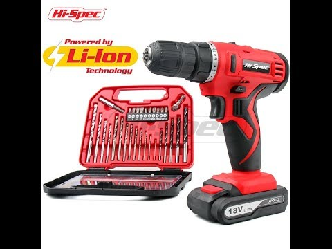 Review Hi-Spec 18V Pro Cordless Combo Drill Driver with 1500 mAh Lithium-Ion Battery