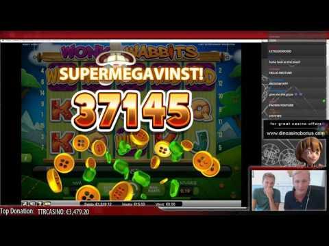 Wonky Wabbits - Super mega big win - Casino Streamer