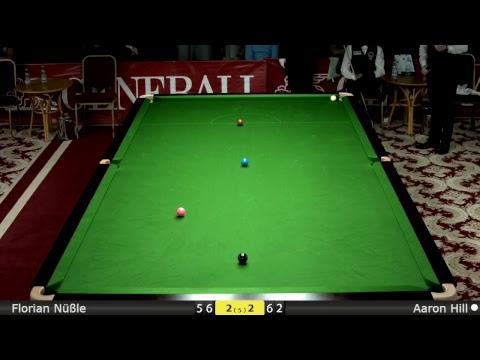 Snooker U18 Last 16 : Florian Nüßle vs Aaron Hill