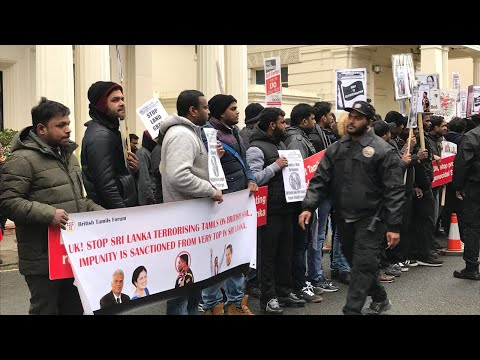 Tamil People's Protest Against SL's Brig. Priyanka Fernando -  Foreign and Commonwealth Office UK.