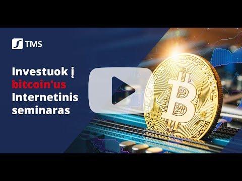 Bitcoin'ai : viskas ką turite žinoti apie investavimą - TMS Europe