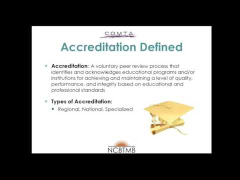 Introduction to COMTA - The Importance of Accreditation for Your School