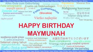 Maymunah   Languages Idiomas - Happy Birthday
