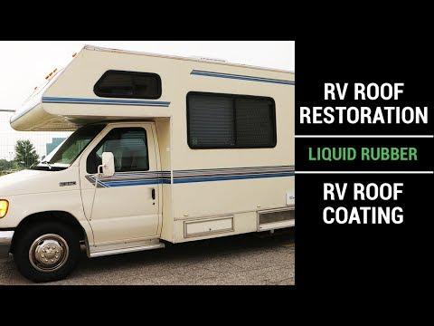 RV Roof Restoration using Liquid Rubber RV Roof Coating
