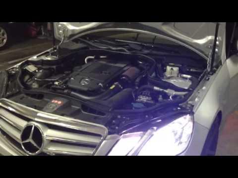 NHBM Mercedes-Benz W212 E200 CGI Turbo intake sound clip