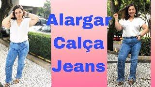 Alargar calça jeans apertada