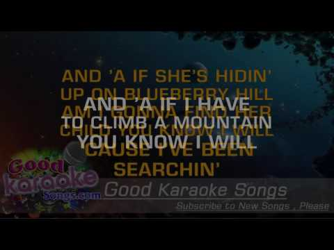 Searchin'  - The Coasters (Lyrics Karaoke) [ goodkaraokesongs.com ]