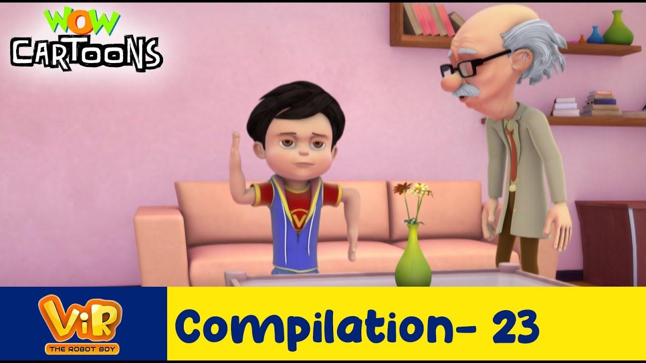 Vir the robot boy   Action Cartoon Video   New Compilation - 23  Kids Cartoons   Wow Cartoons