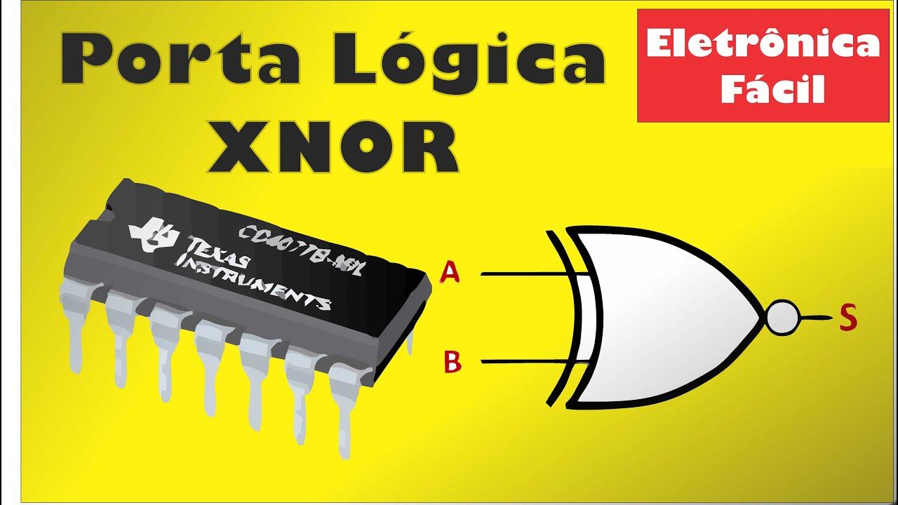 Circuito Eletronica : Eletrônica digital 6 porta lógica xnor coincidência circuito