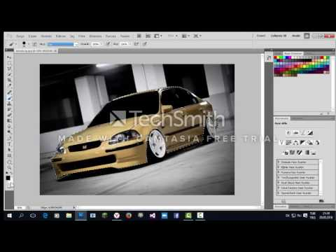 Adobe Photoshop Cs5 Araba Boyama Photo Tuning Hd Youtube